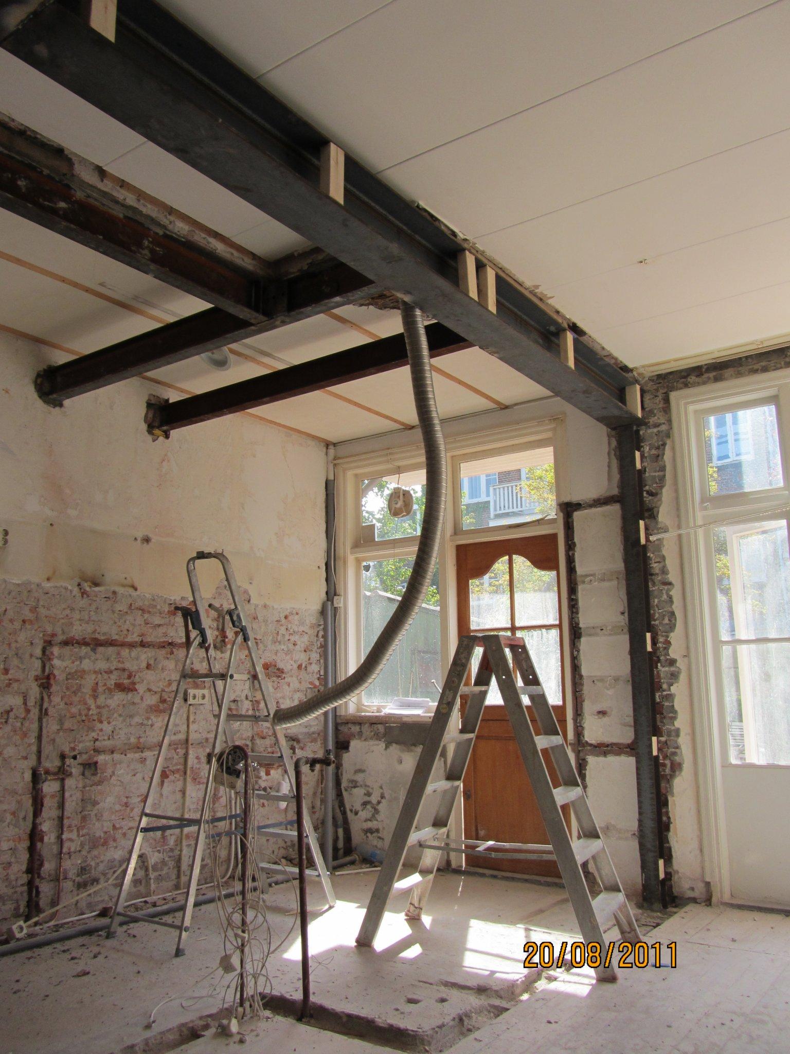Keukenrenovatie Den Haag : Oud Hollands Diensten ? Constructie plaatsen tbv renovatie nieuwe